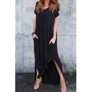 Black maxi dress casual